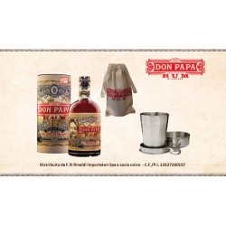 DON PAPA 7 ANNI RUM + SHOT IN ACCIAO