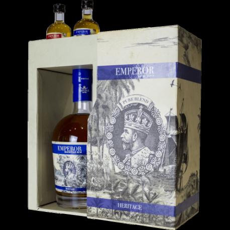 BOX EMPEROR HERITAGE RUM + 2 MIGNON CL.5